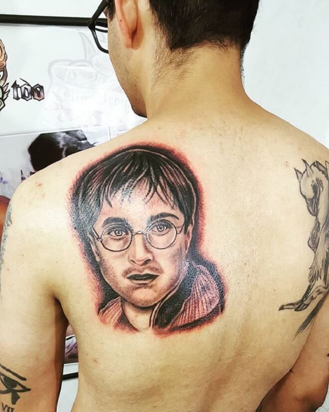 Back Harry Potter Tattoo