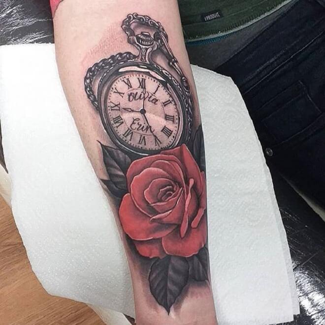 Beautiful Clock Tattoo