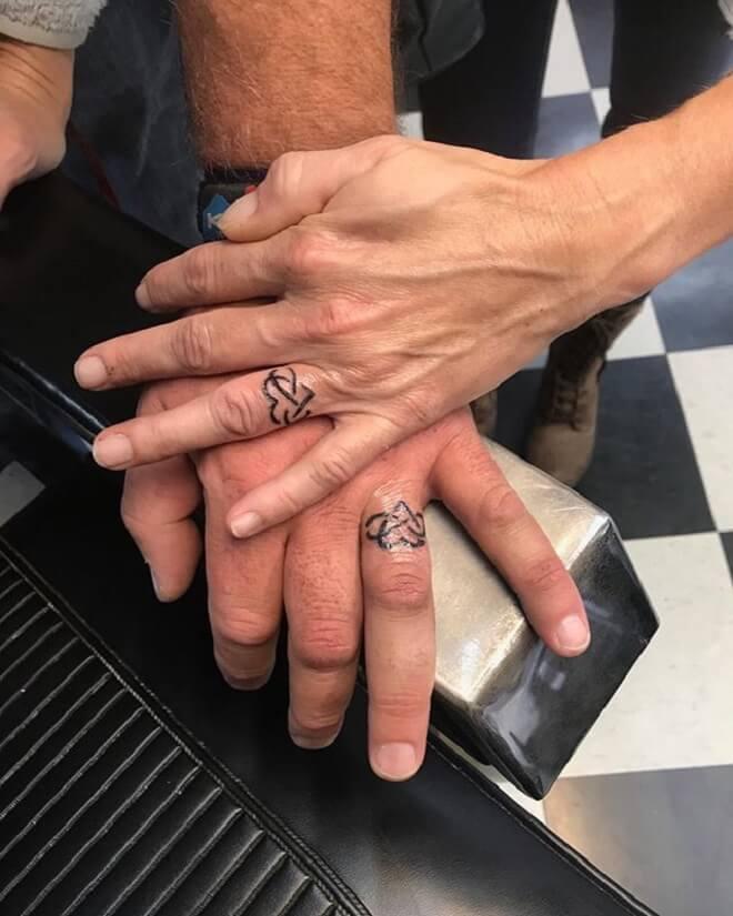 Beautiful Wedding Ring Tattoo