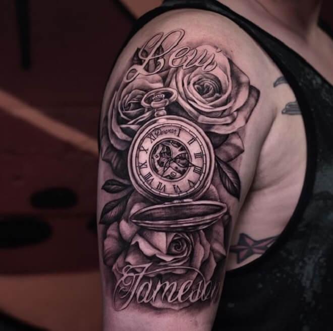 Best Clock Tattoo