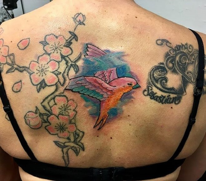 Bird Colorful Tattoo