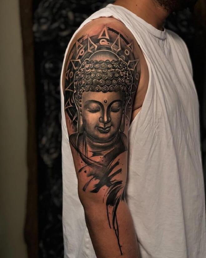 Black Buddha Tattoo