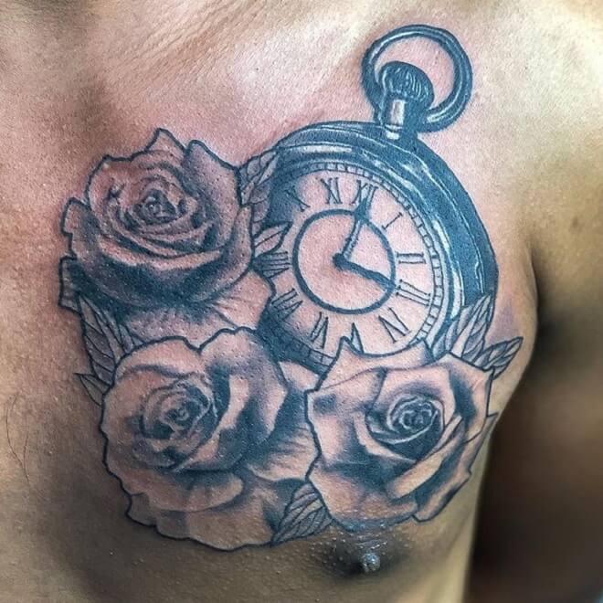 Black Clock Tattoo
