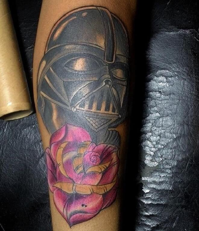 Black Darth Vader Tattoo