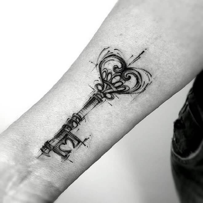 Black Key Tattoo