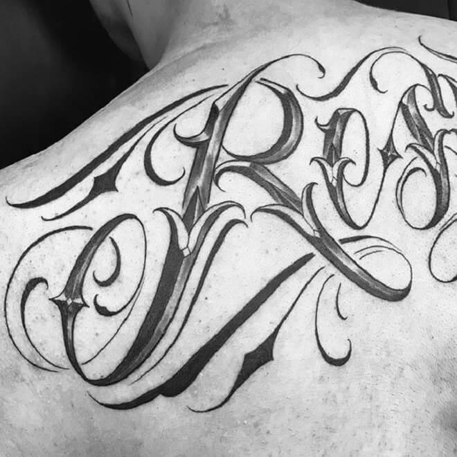 Black Letters Tattoo