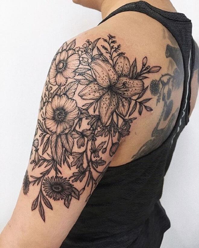 Black Shoulder Tattoo