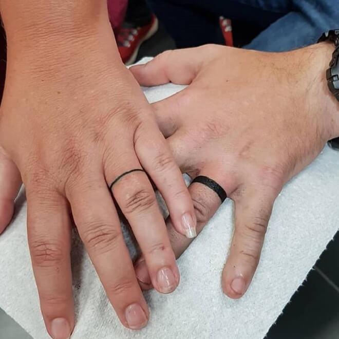 Black Wedding Ring Tattoo