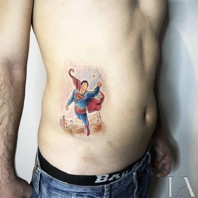 Boy Superman Tattoo