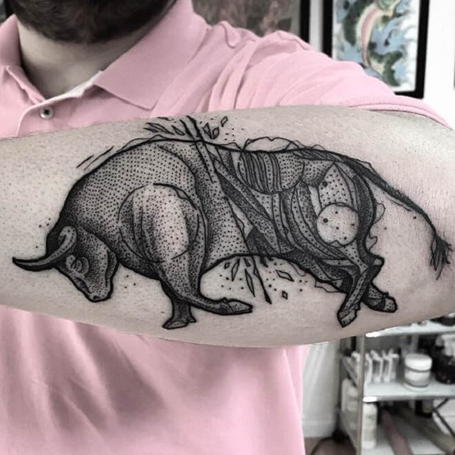 Bull Tattoo Work