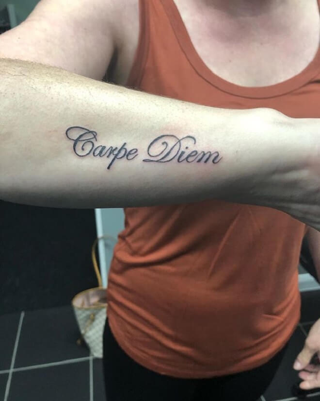 Carpe Diem Tattoo for Men