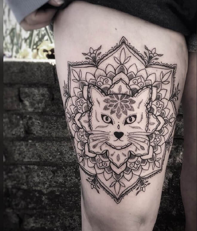 Cat Awesome Tattoo