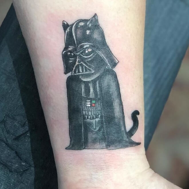 Cat Darth Vader Tattoo