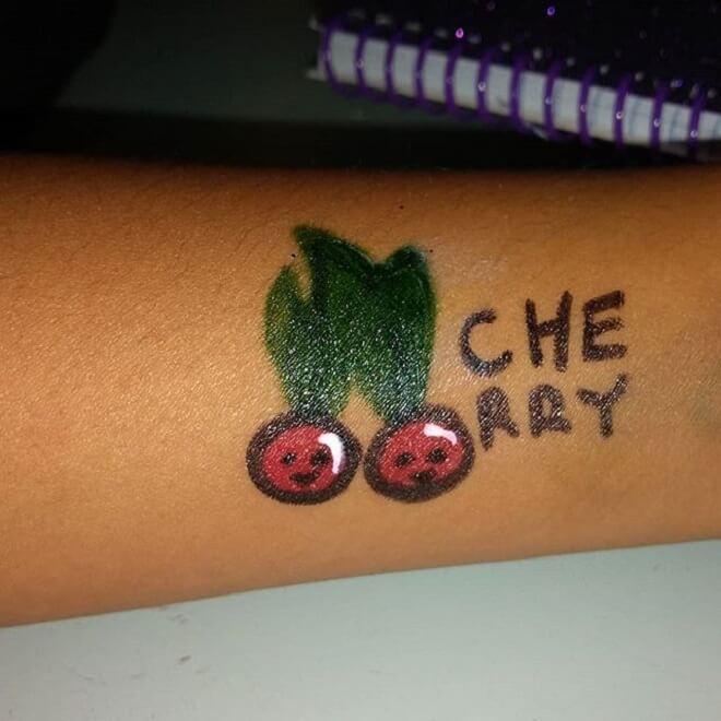 Cherry Temporary Tattoo