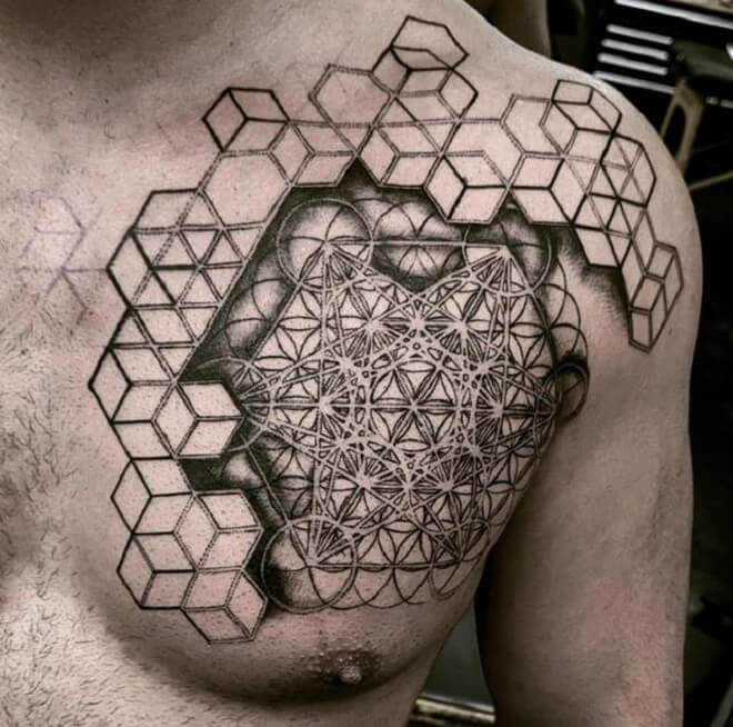Chest Awesome Tattoo