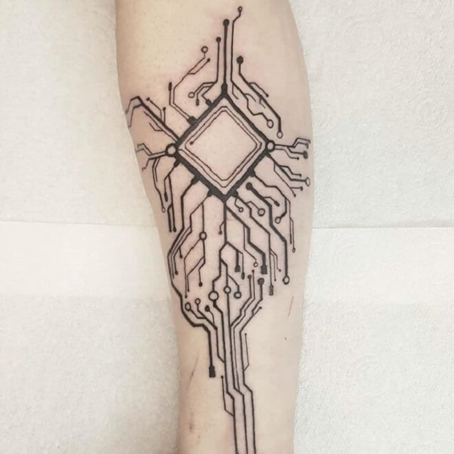 Circuit Tattoo Designs