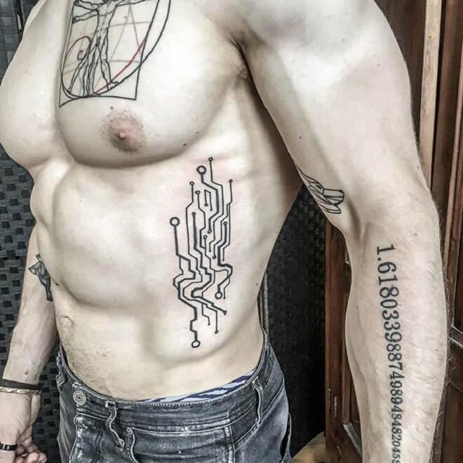 Circuit Tattoo for Men