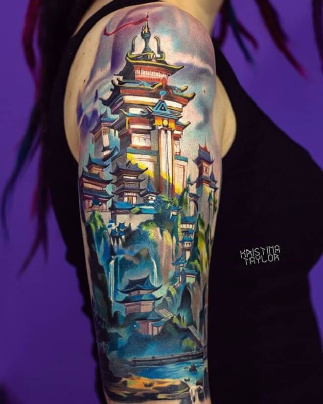 City Colorful Tattoo
