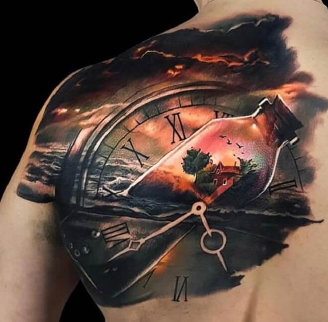 Clock Back Tattoo