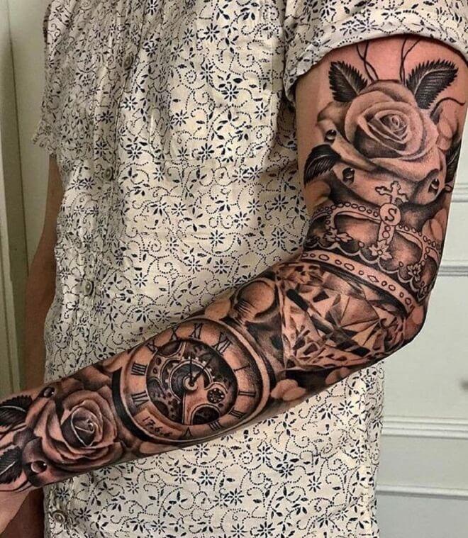 Clock Tattoo Art