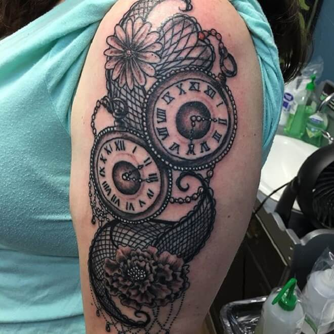 Clock Tattoo for Women