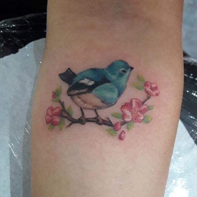 Color Bird Tattoo