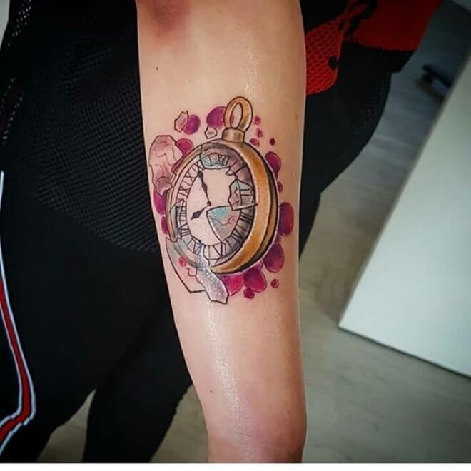 Color Clock Tattoo