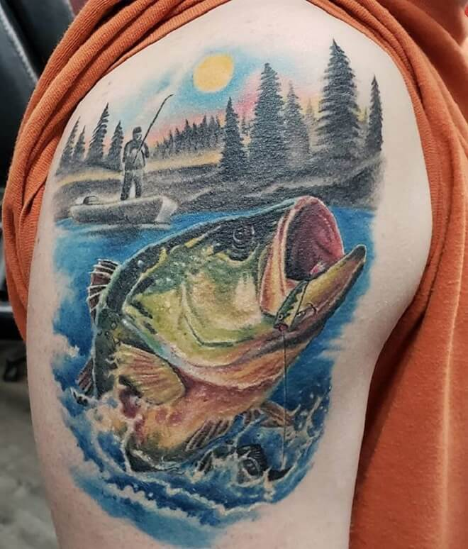 Color Fishing Tattoo