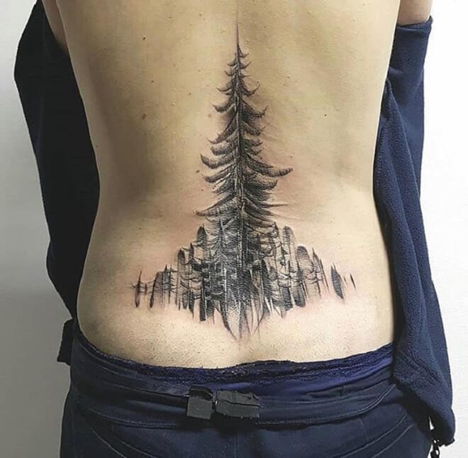 Creative Lower Back Tattoo