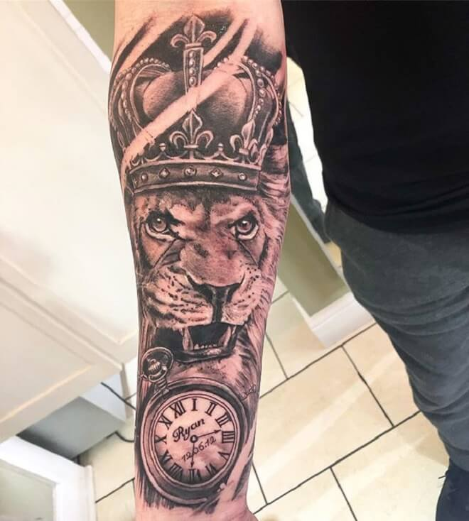 Crown Clock Tattoo