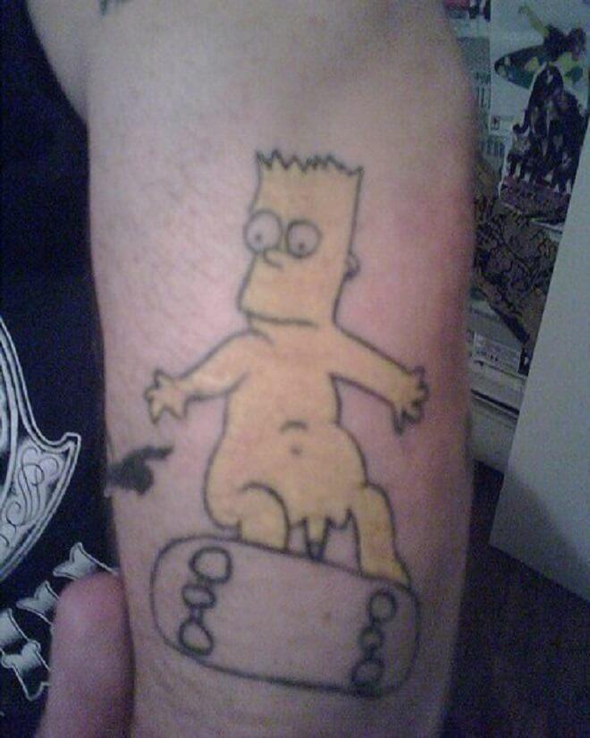 El Barto Tattoo
