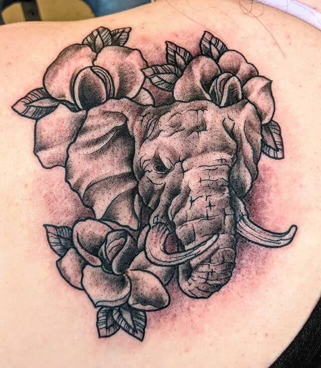 Elephant Traditional Tattoo
