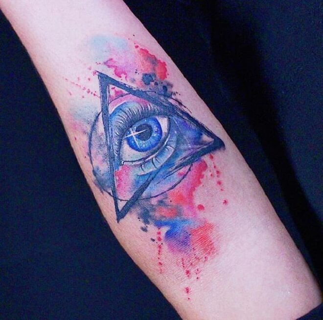 Eye Colorful Tattoo