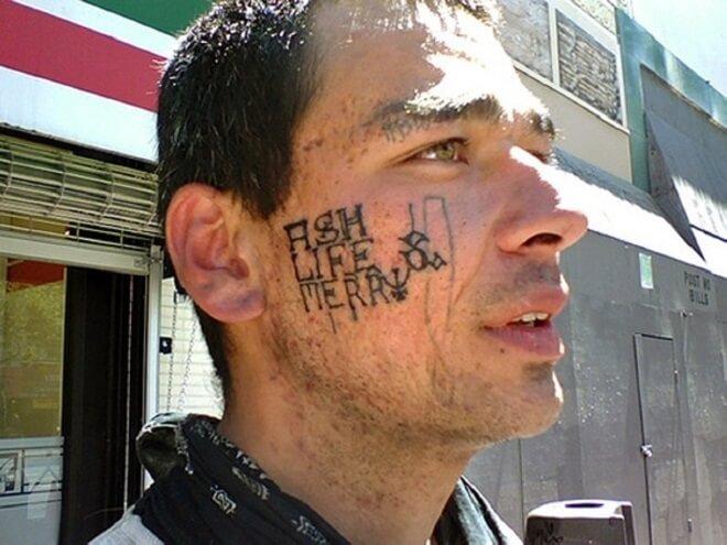 Face Bad Tattoo