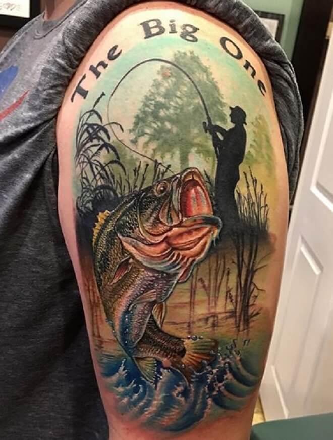 Fishing Tattoo for Men