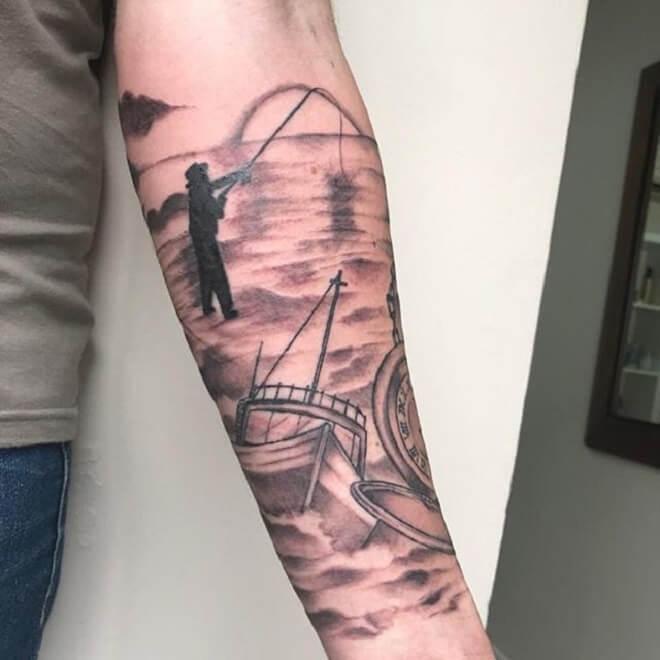Fishing Tattoo for Women