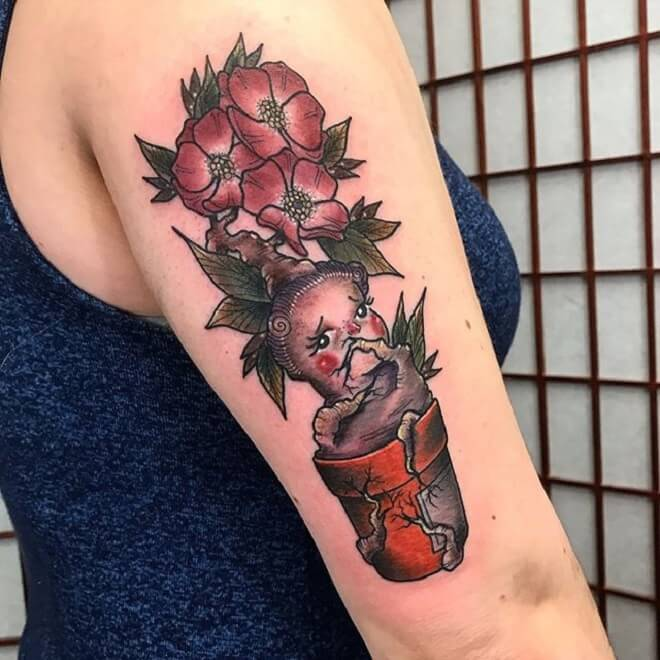 Flower Harry Potter Tattoo