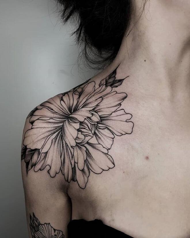 Flower Shoulder Tattoo