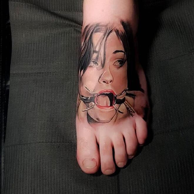 Foot Tattoo Art