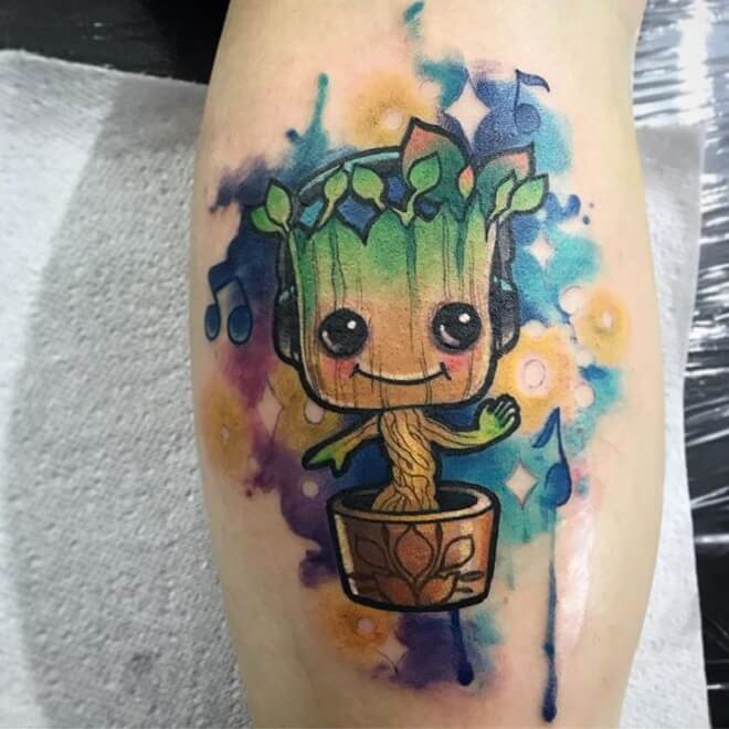 Fun Colorful Tattoo