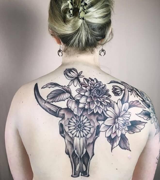 Girl Bull Tattoo