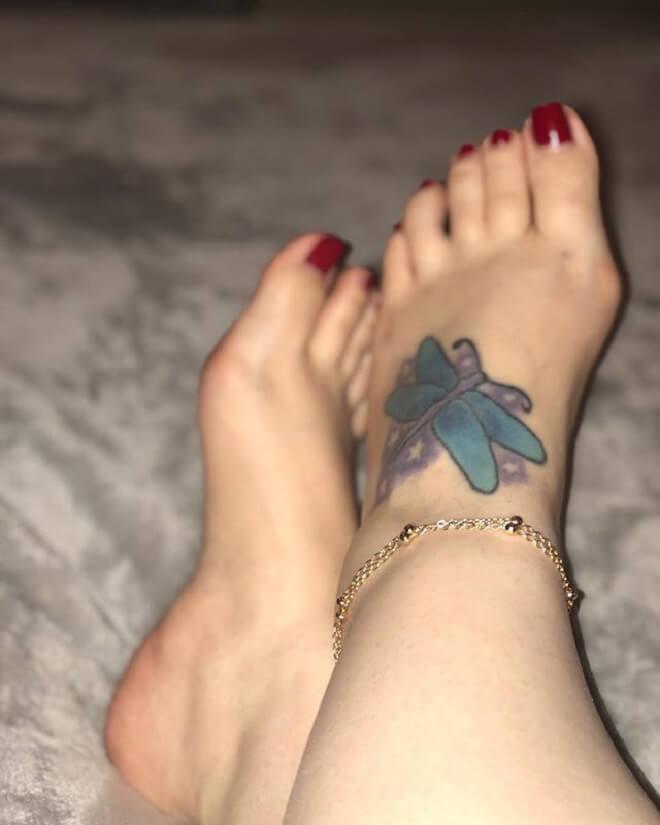 Girl Foot Tattoo