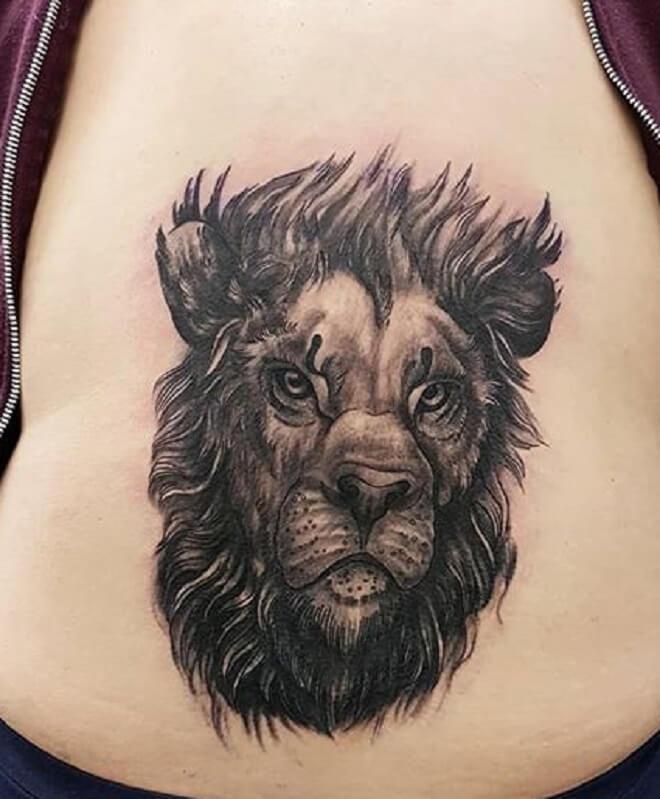 Girl Lower Back Tattoo