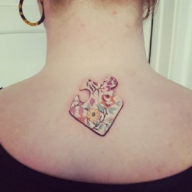 Girl Puzzle Piece Tattoo