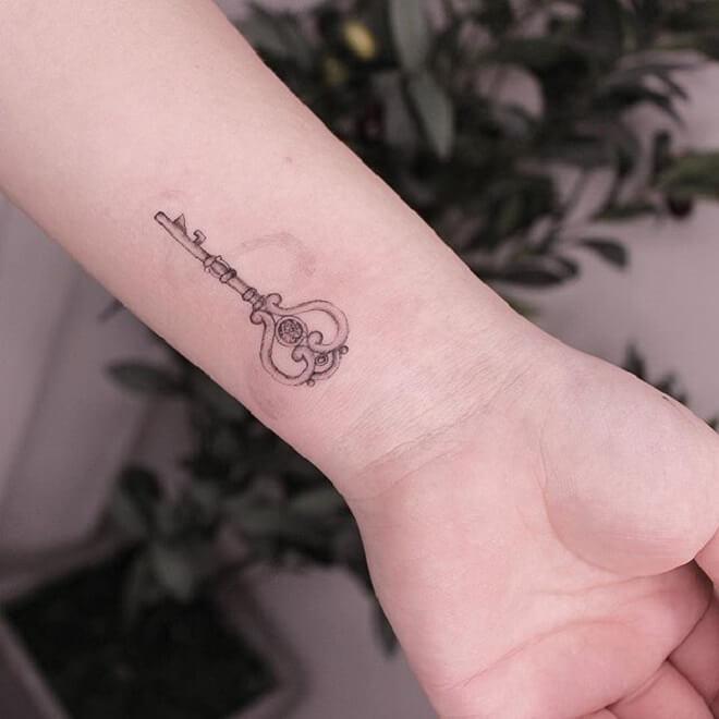 Hand Key Tattoo