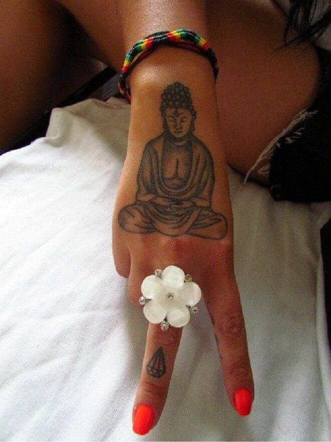Handy Buddha Tattoo