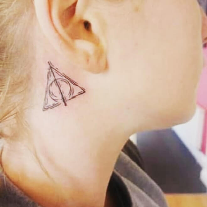 Harry Potter Neck Tattoo