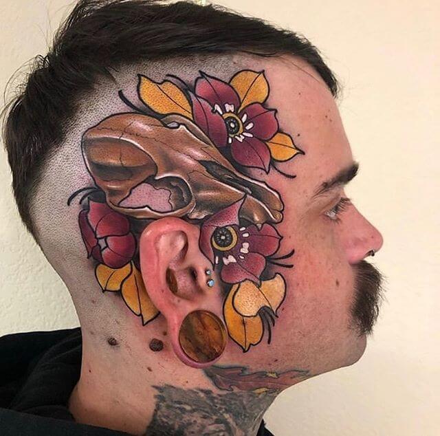 Head Traditional Tattoo
