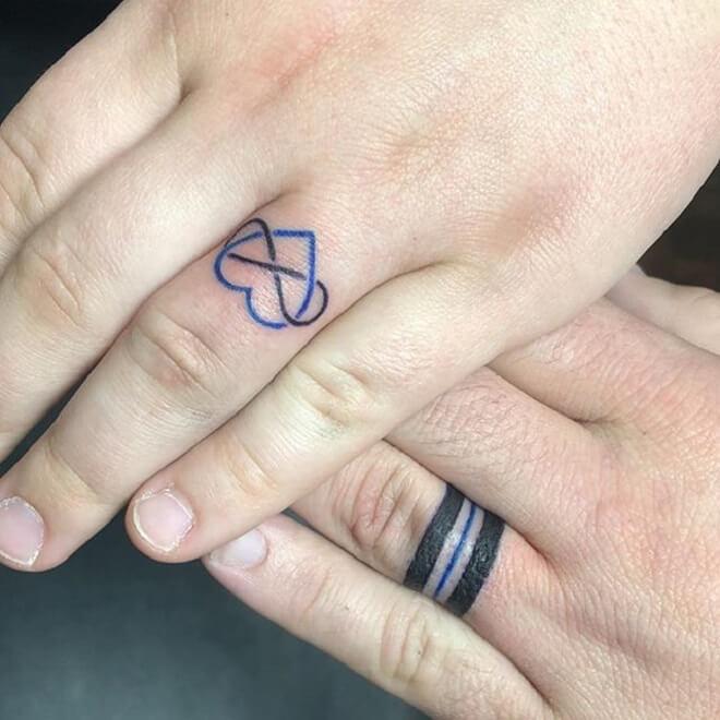 Heart Wedding Ring Tattoos