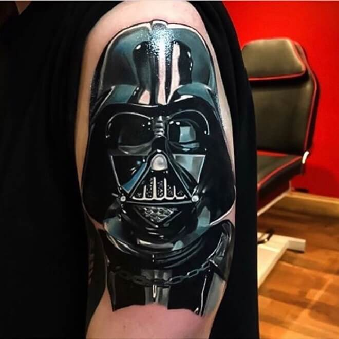 Incredible Darth Vader Tattoo